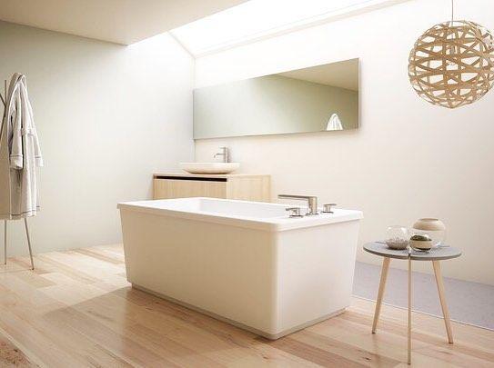 Meet the new Linea freestanding bath. #jacuzziluxurybath #jacuzzibath #freestandingbath #freestandingtub #bathroom #bathroominspiration #interiordesign #dropintub #bathtub #modernbathroom #luxurybath #masterbath #homedesign