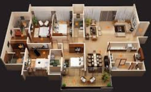 There S A Lot More Than Finalizing An Apartment 4 Bedroom House Designs Four Bedroom House Plans 3d House Plans