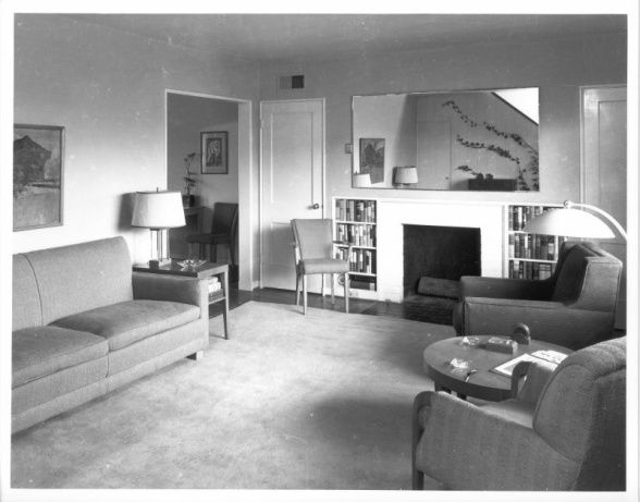 1940s living room Clean and simple Everything is smaller and