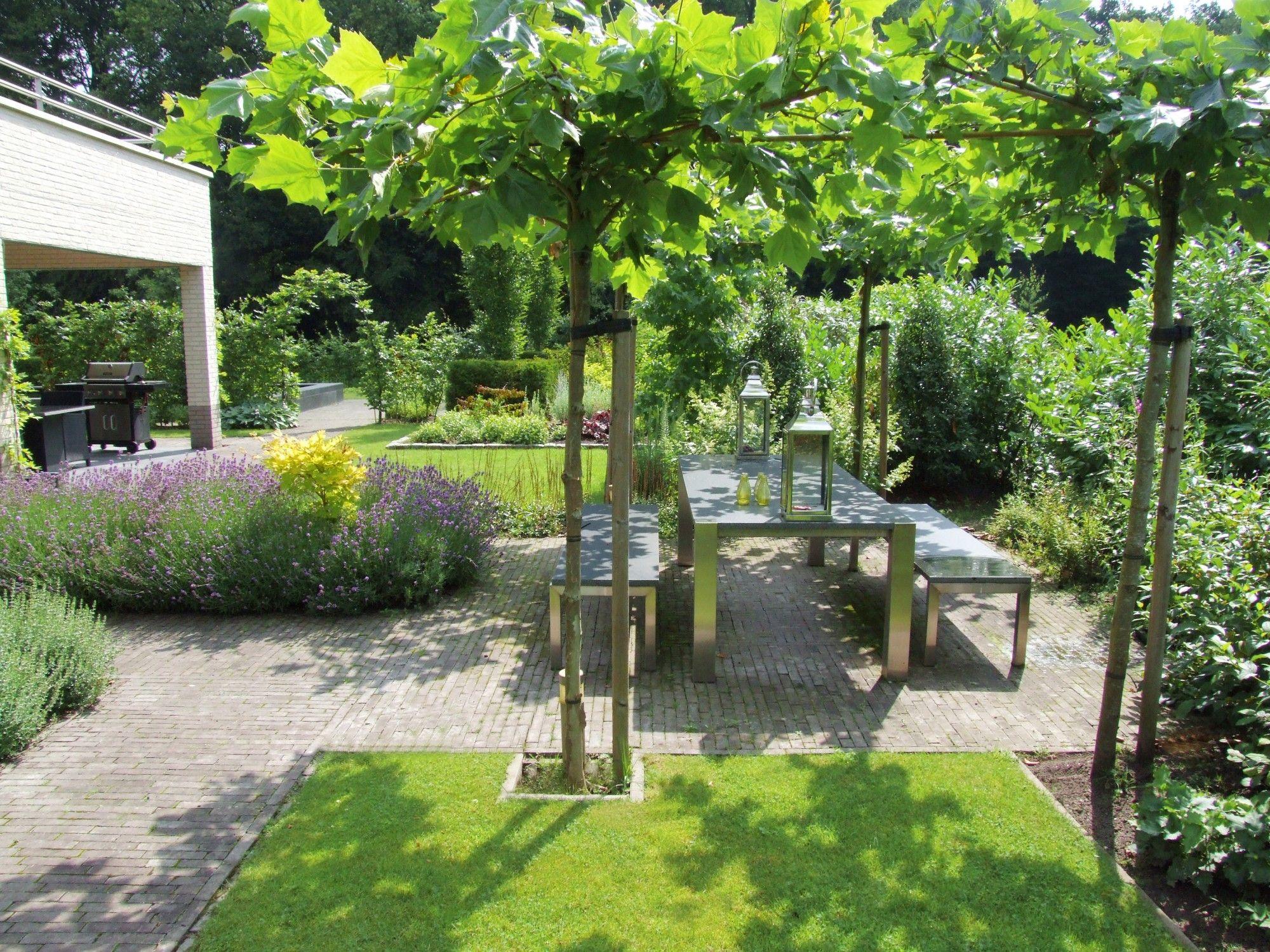 Naast de opdracht om een tuin te cre ren die goed bij de moderne villa moest passen was er ook - Te dekken moderne tuin ...