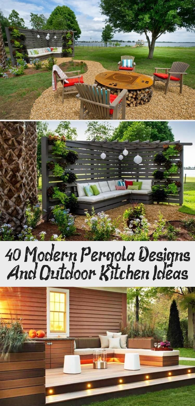 40 Modern Pergola Designs And Outdoor Kitchen Ideas - modern outdoor kitchen - 4... - mjmalcolm - 4