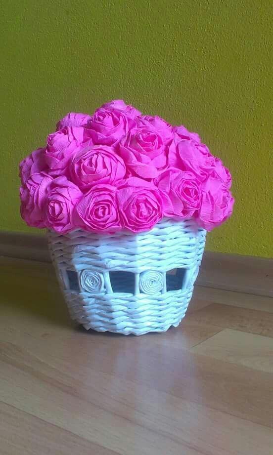 Ruže v črepníku