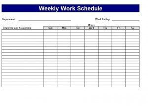 Work Schedule Template  Things To Wear    Schedule