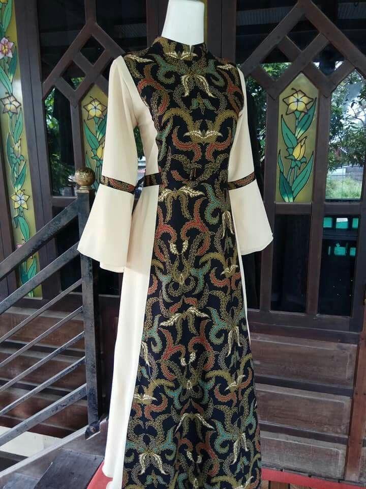 77 Desain Baju Gamis Batik Model Pakaian Guru Model Pakaian Muslim Pakaian Wanita