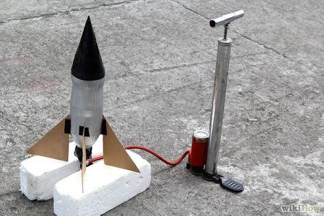 Een raket maken van een fles (met afbeeldingen)   Knutselen raket ...