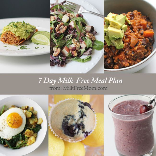 Thinking about going dairy-free? Already on a dairy-free diet, and struggling with ideas of what to eat? This 7 day sample meal plan will give you recipes for three delicious milk-free meals...