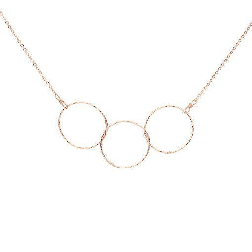 Triple Diamond Cut Necklace