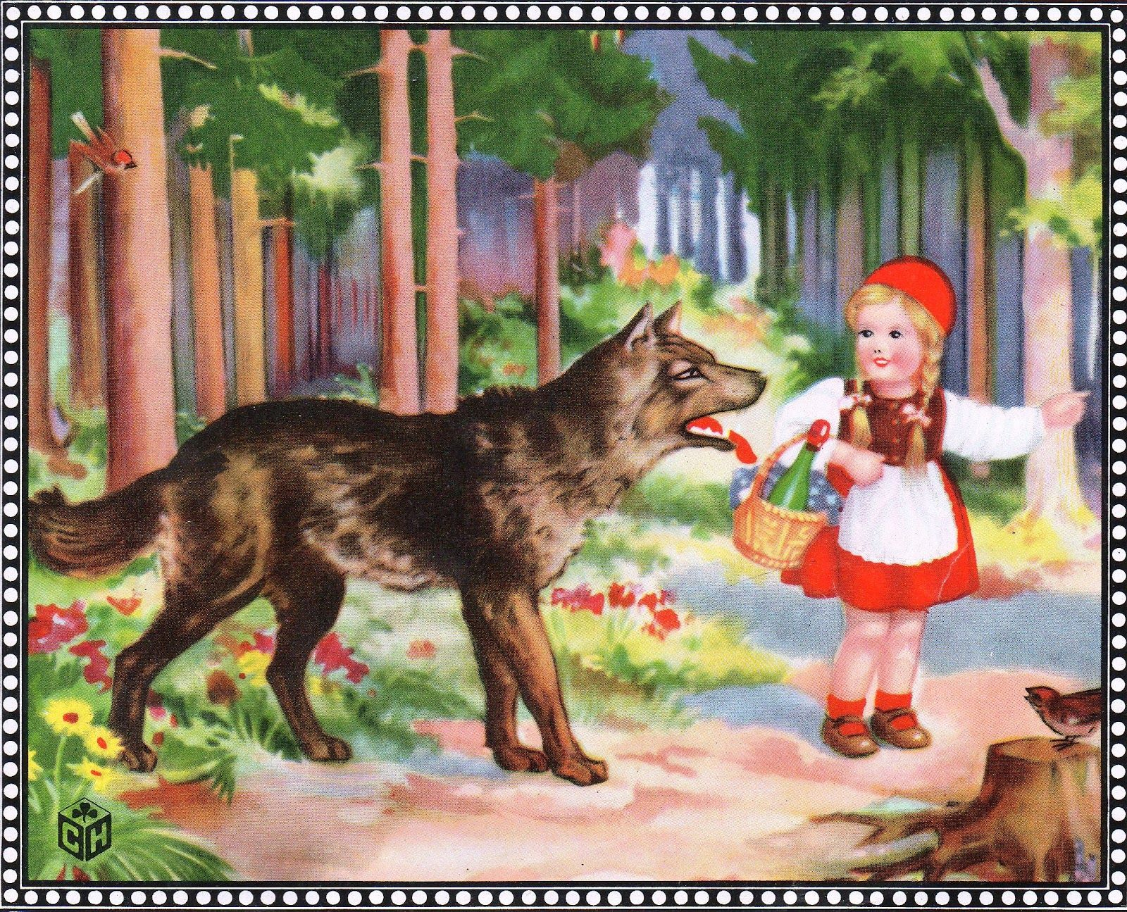 Little Red Riding Hood | LITTLE RED RIDING HOOD - VINTAGE IMAGE (2 of 6)