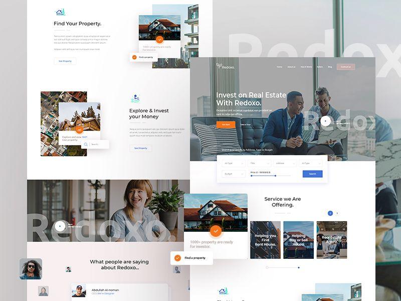 Redoxo V2 Real Estate Web Exploration Real Estate Website Design Real Estate Web Design Real Estate Landing Pages