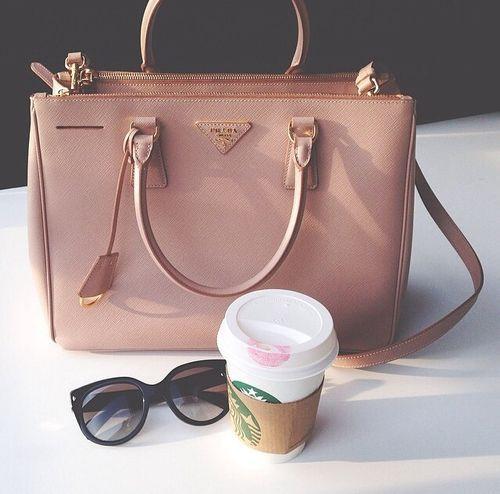 Blush Pink Prada Work Bag