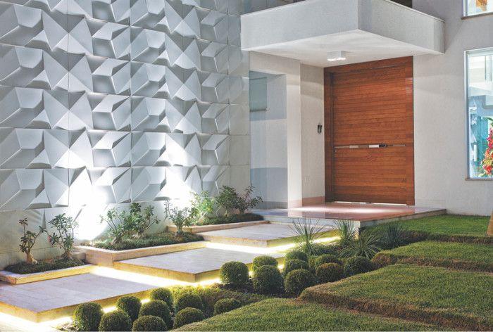 Revestimento de paredes externas entradas residenciais for Fachadas de casas con azulejo