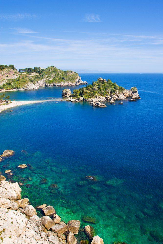 Isola bella Taormina Messina Sicily Italy , Greece