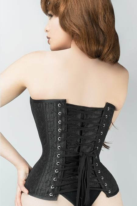 ae44965150 Waist Taming Classic Black Overbust Corset With Hip Gores - 20 in ...