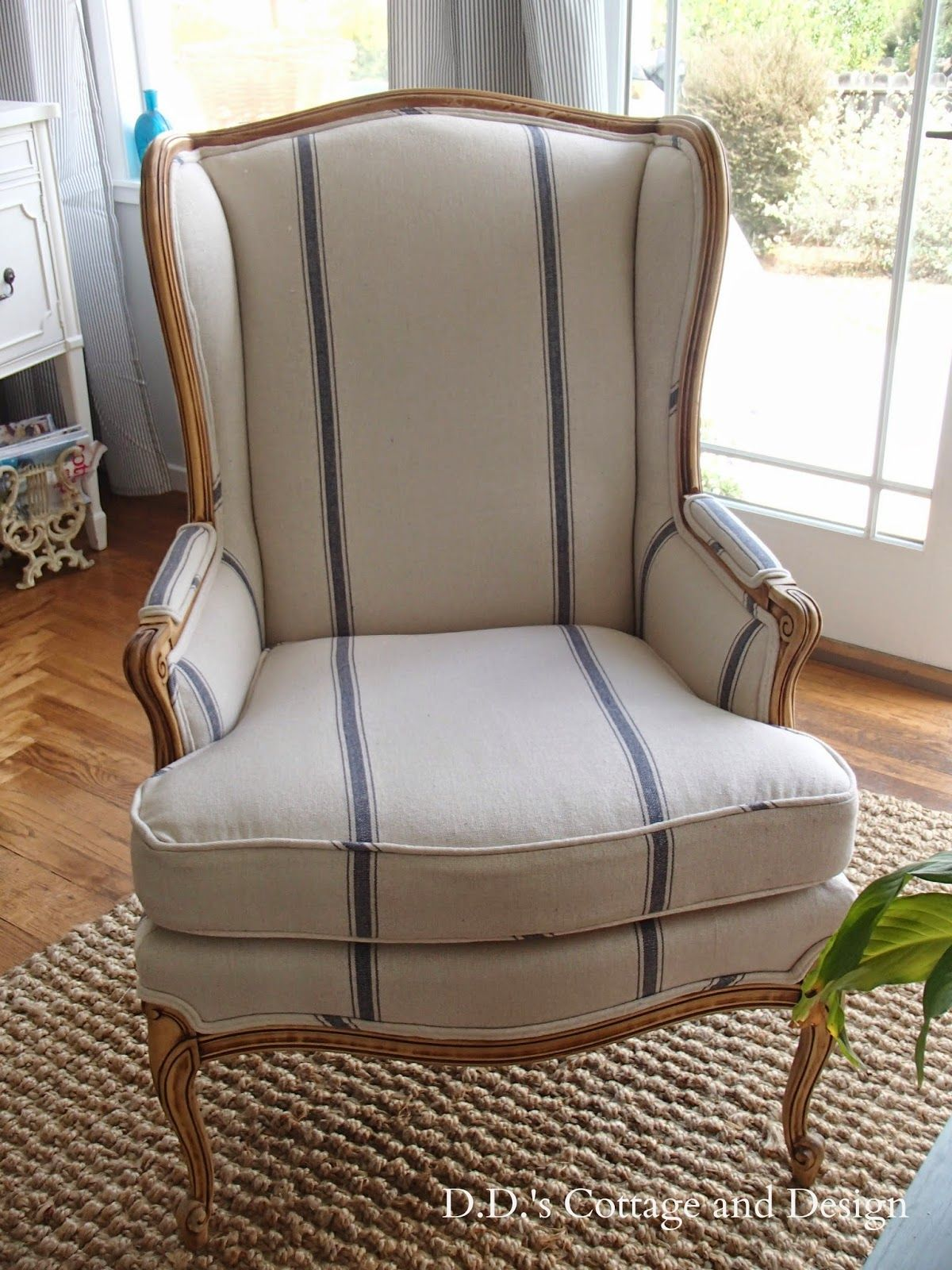 D S Cottage And Design My New Grain Sack Chair French Country