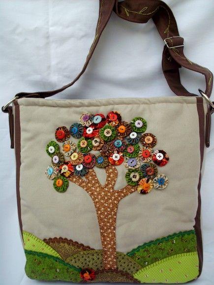 9ef4b065f Bolsa Árvore de Fuxico $ 80,00 | Bags,purses | Patchwork bags, Cloth ...