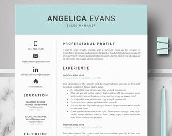 Pages Resume Templates Modern Resume Template Professional Resume Cv For Word 1 2 3