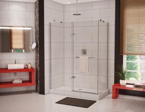 Reveal Pivot 56 59 2 Panel Shower Door At Menards Shower Doors