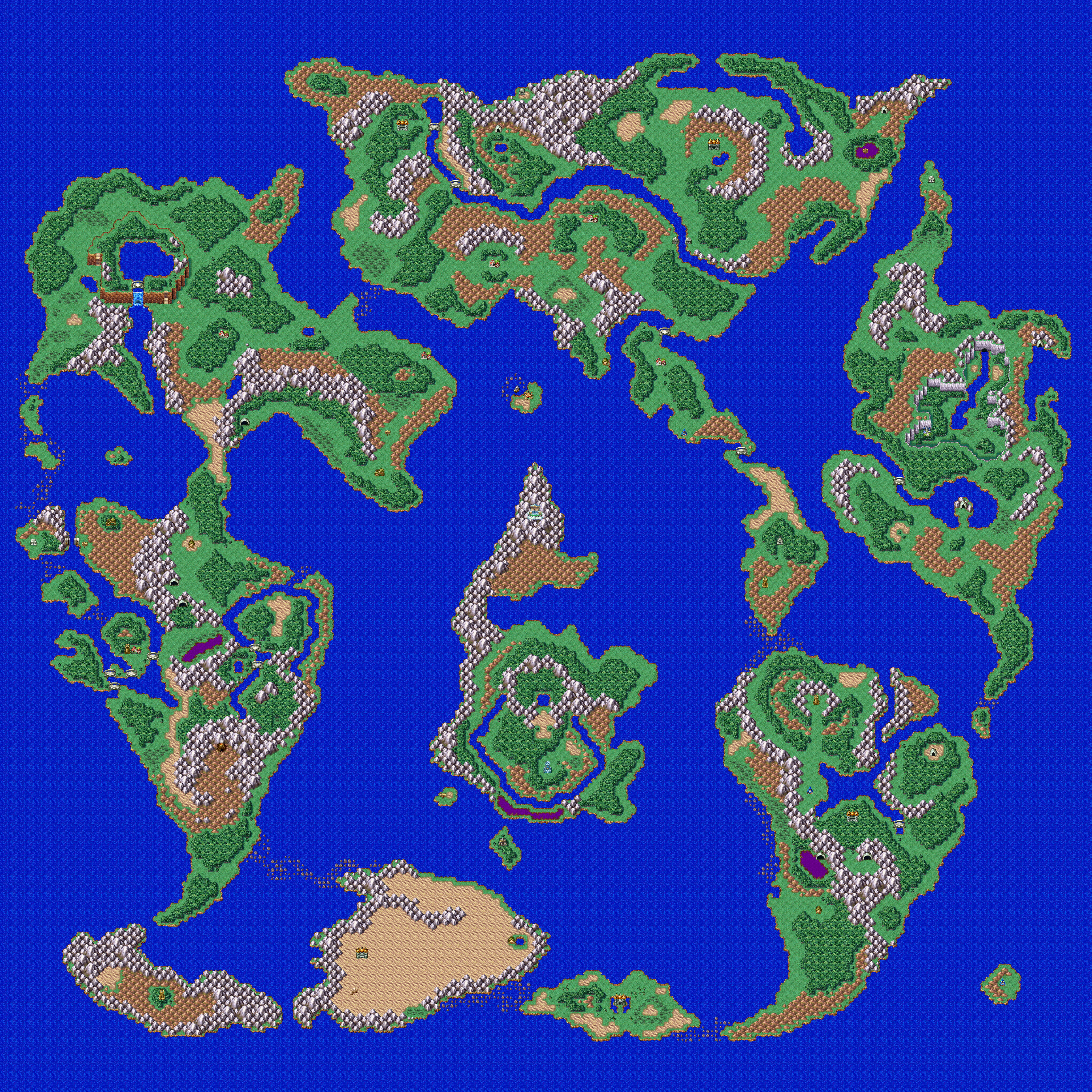Dragon Quest Map on