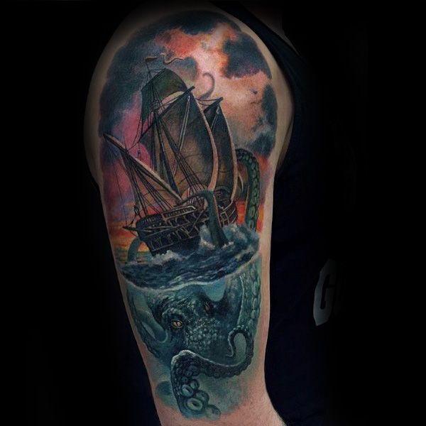 100 Kraken Tattoo Designs For Men   Tattoos For Men ...