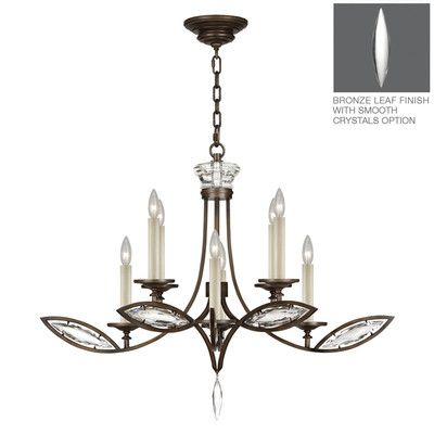 Fine Art Lamps Marquise 8 Light Candle-Style Chandelier Finish: Rubbed Bronze
