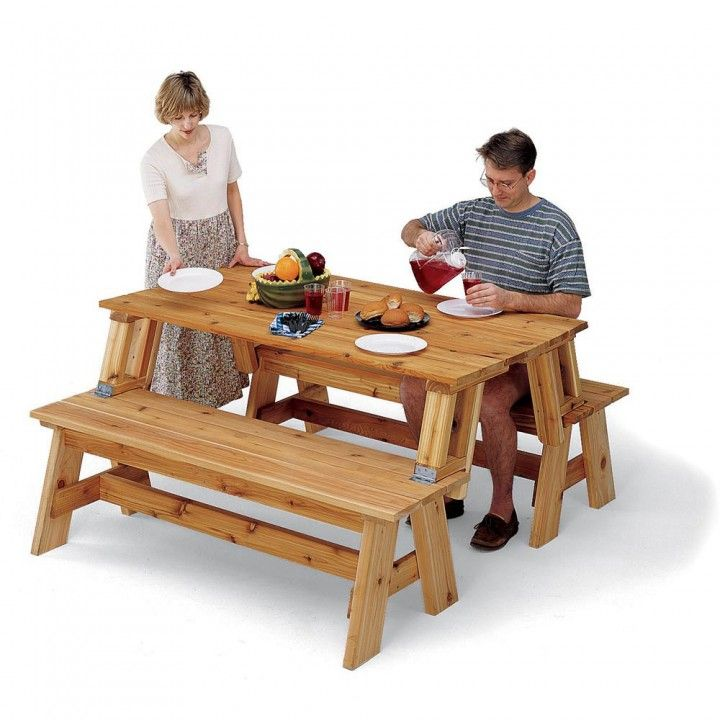 Picnic Table Bench Combo Plan Woodworking Bench Easy