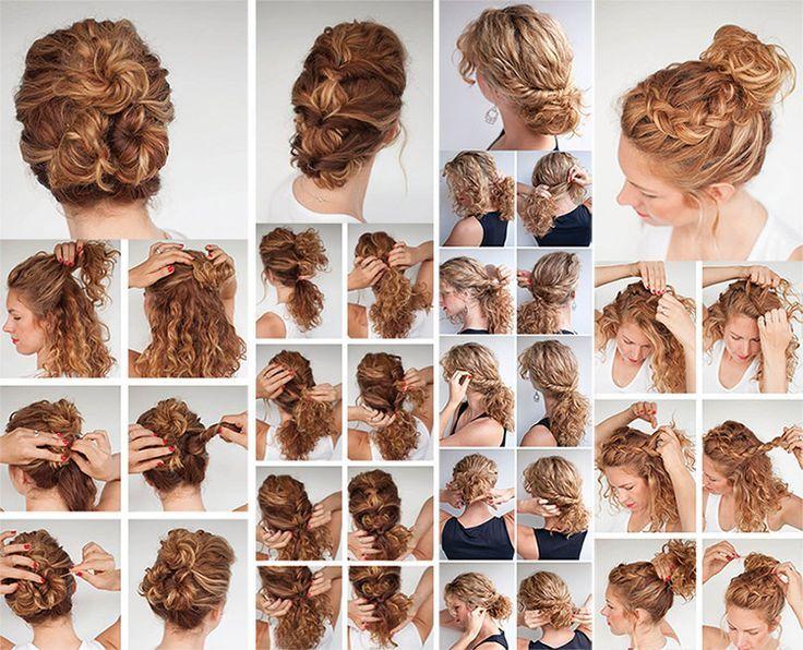 Peinados recogidos en cabellos ondulados