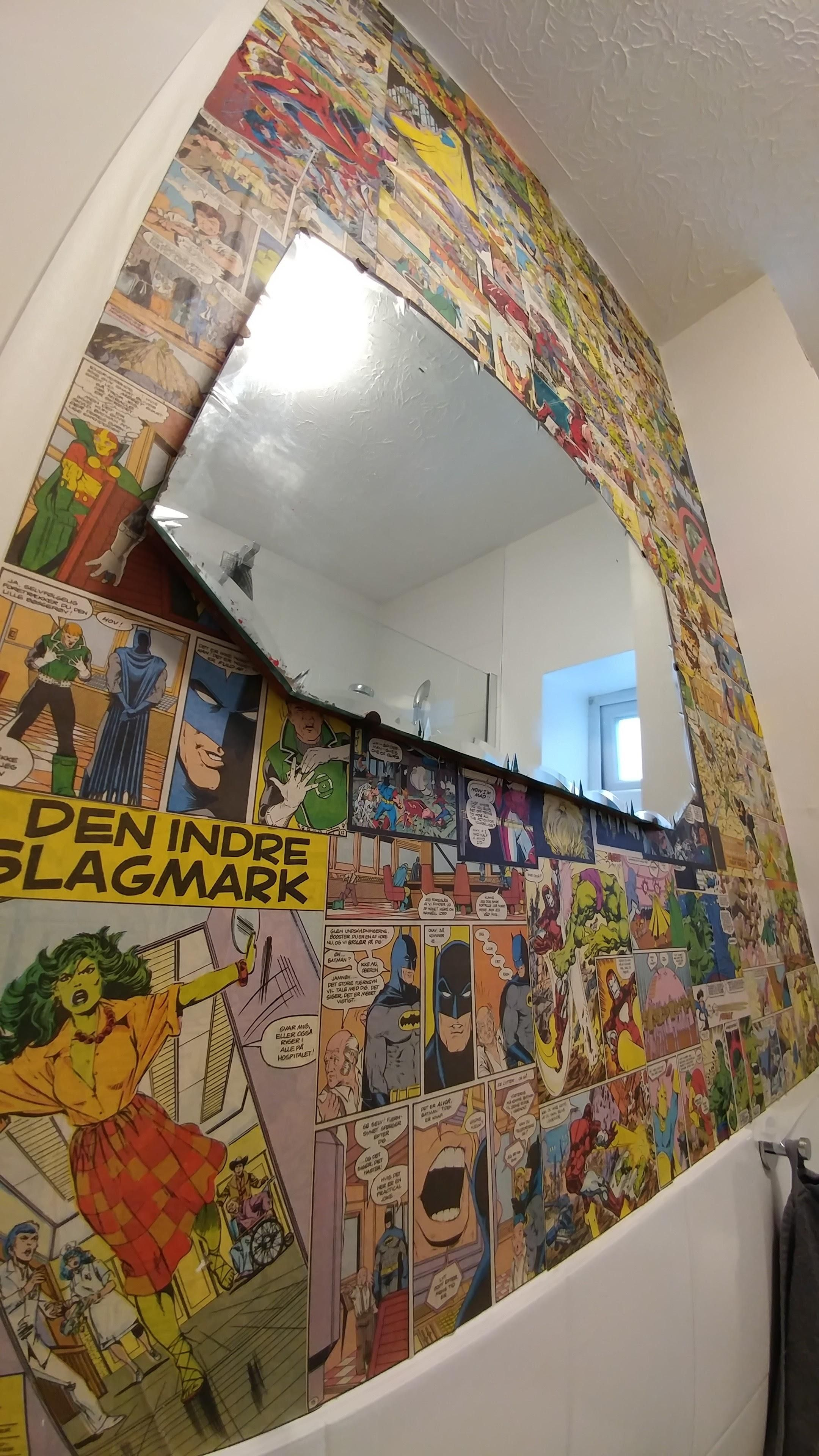Comic Book Bathroom Wall Feature Wall Home And Garden Home Diy