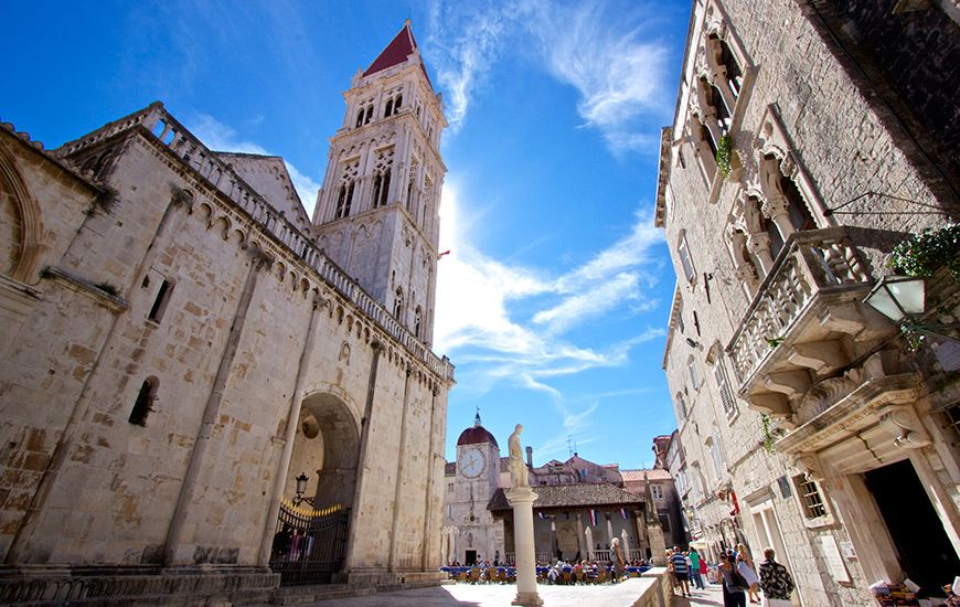 Trogir Hrvatskatravel Org City View Barcelona Cathedral City