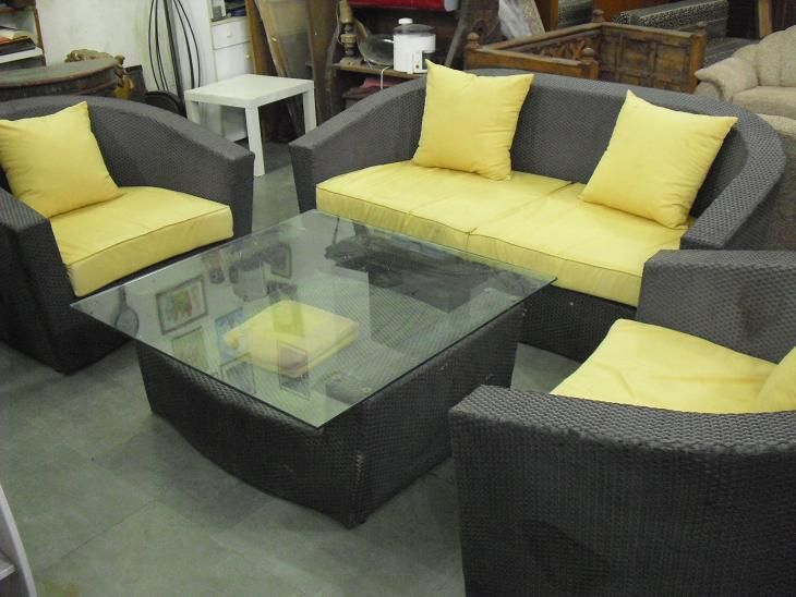 Incredible 5 Seater Cane Sofa With Center Table Features Rich Looking Download Free Architecture Designs Scobabritishbridgeorg