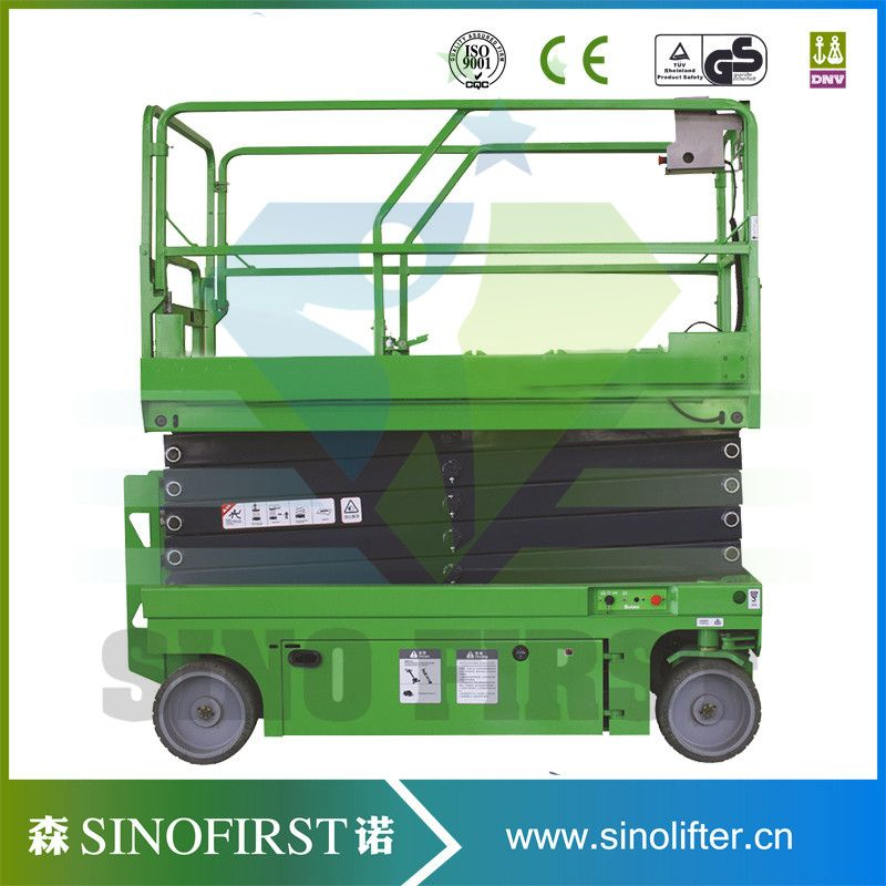 6m Self Propelled Aerial Working Lift automatic mobile scissor lift ...