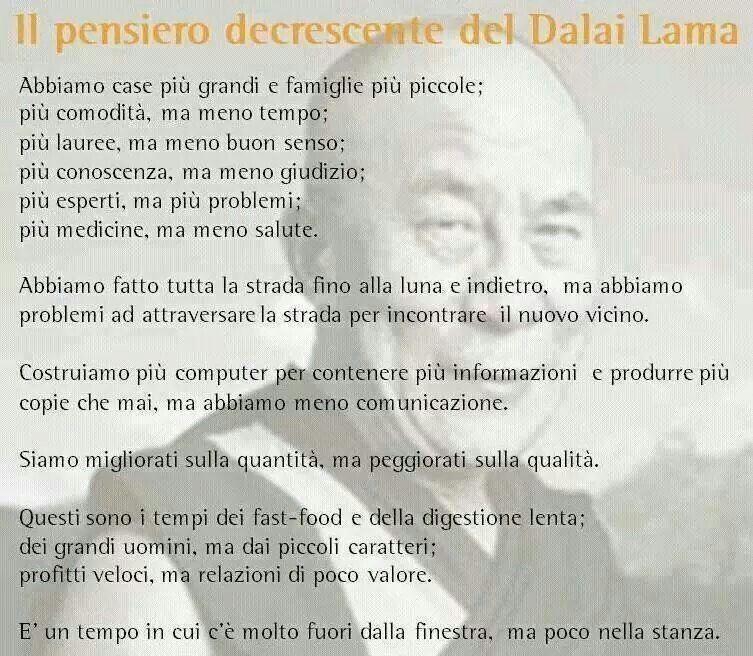 Super Il pensiero decrescente del Dalai Lama | Frasi di riflessione  BC67