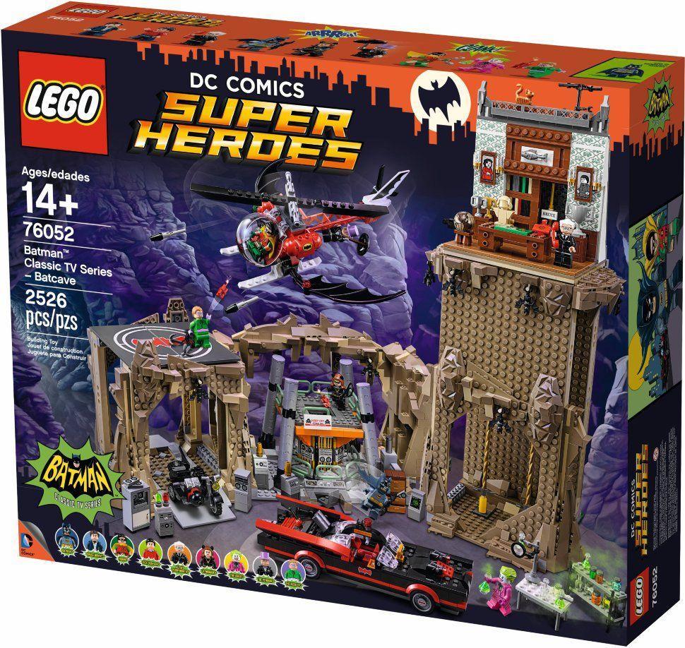конструктор lego super heroes 76052 пещера бэтмена lego dc super