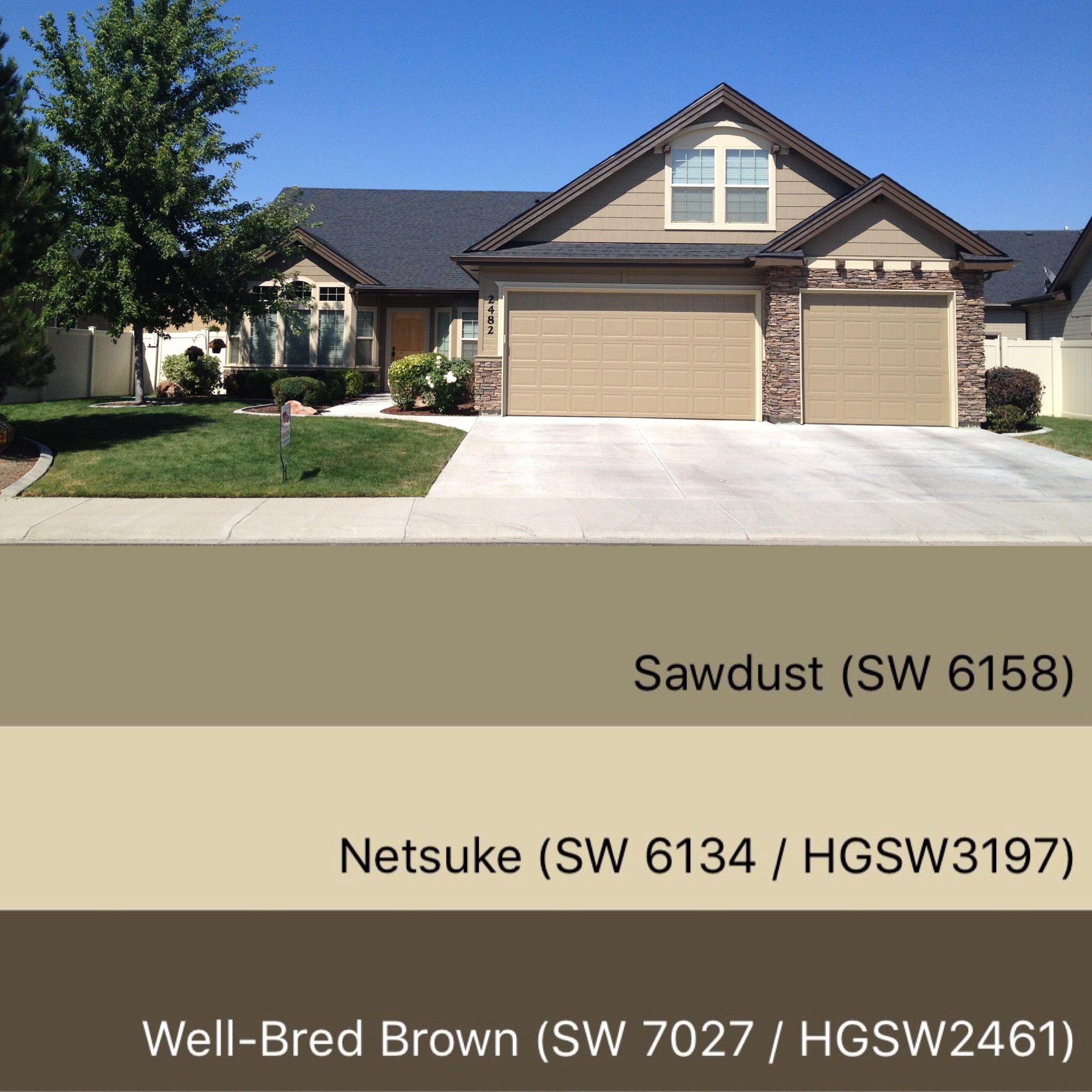 Sherwin williams paint colors sawdust 6158 netsuke 6134 for Color de pintura al aire libre casa moderna