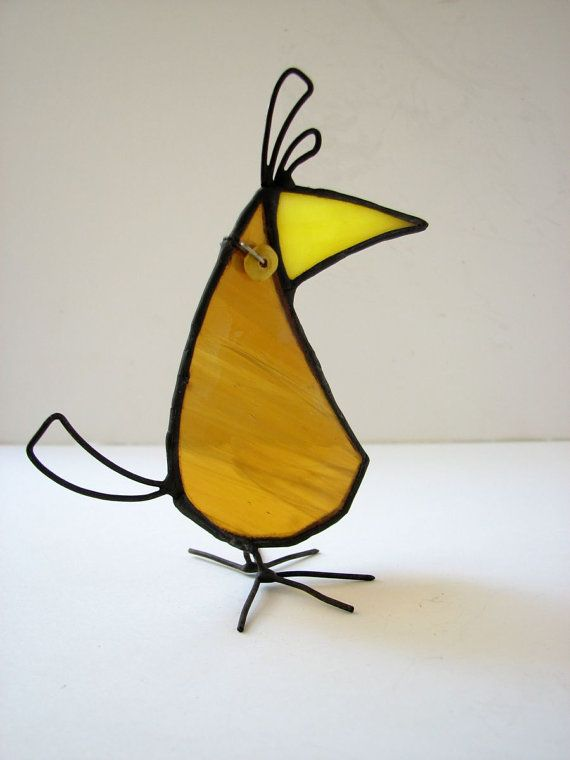 Stained Glass Bird Fits Your Mood by HaloneyRakia on Etsy