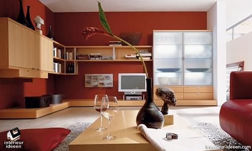Rode woonkamer voorbeelden | woonideeën | Pinterest