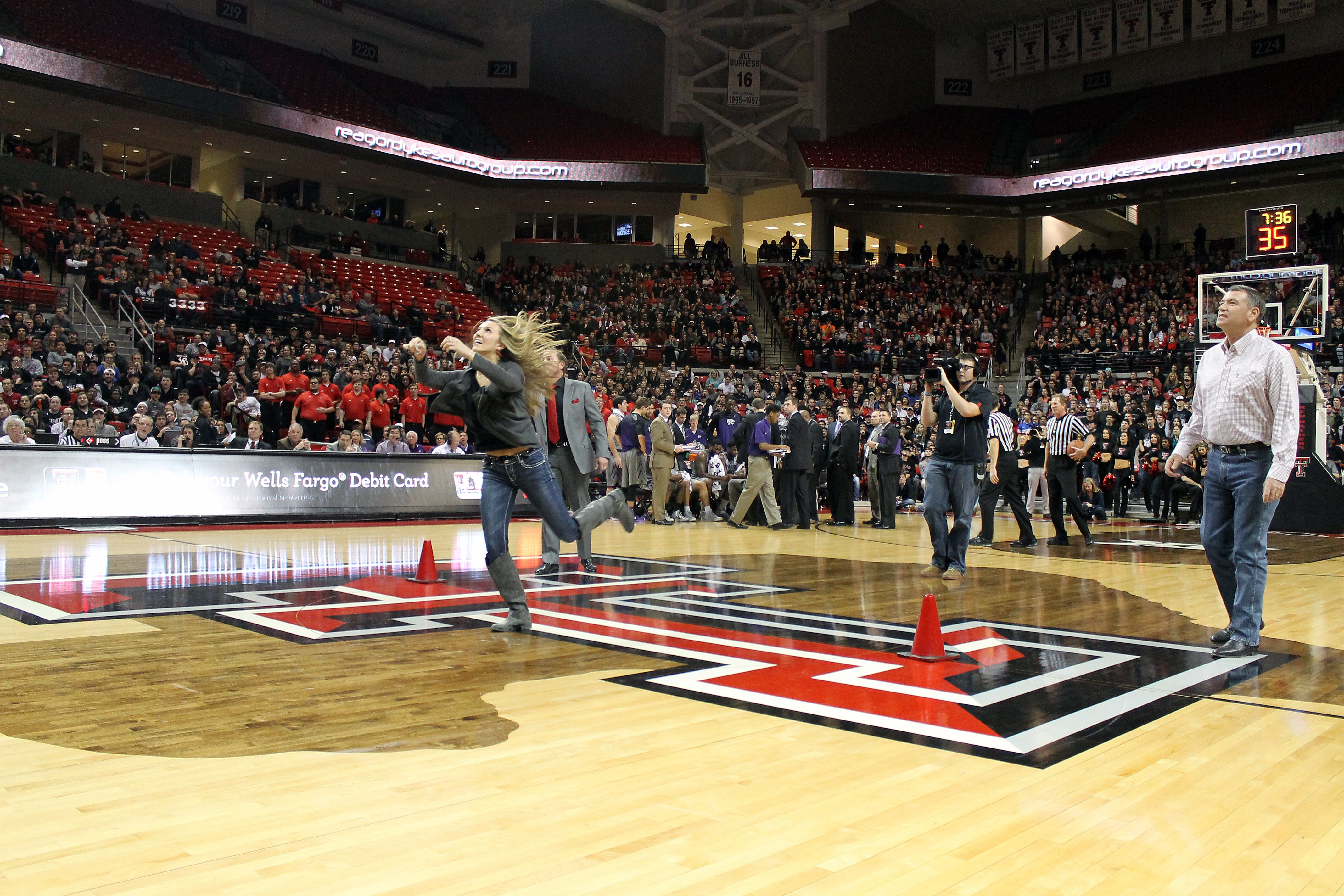 Four students got a chance to come onto the court
