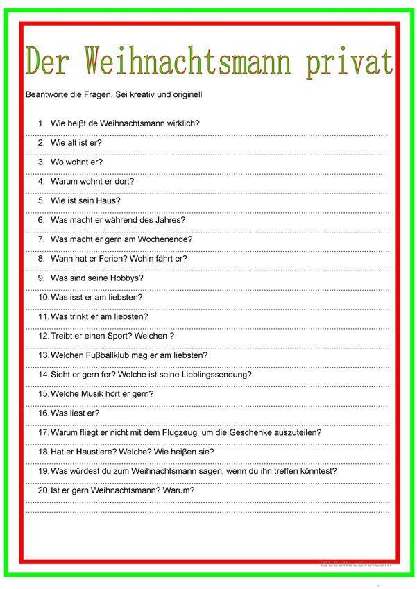 Der Weihnachtsmann privat | Weihnachten (Deutsch für Kinder ...