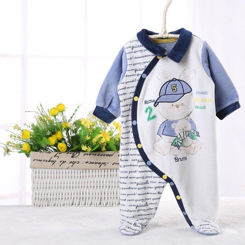 52b01e392e5 Mono del Bebé Ropa niños ropa bebé recién nacido manga larga niños ropa  niños trajes babya infantil lado apertura
