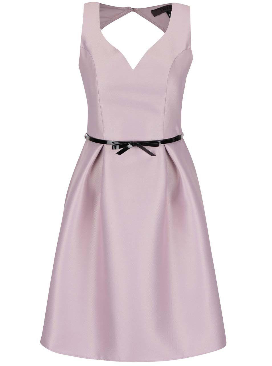 fdf2719cca7 Fialové šaty s opaskom Dorothy Perkins