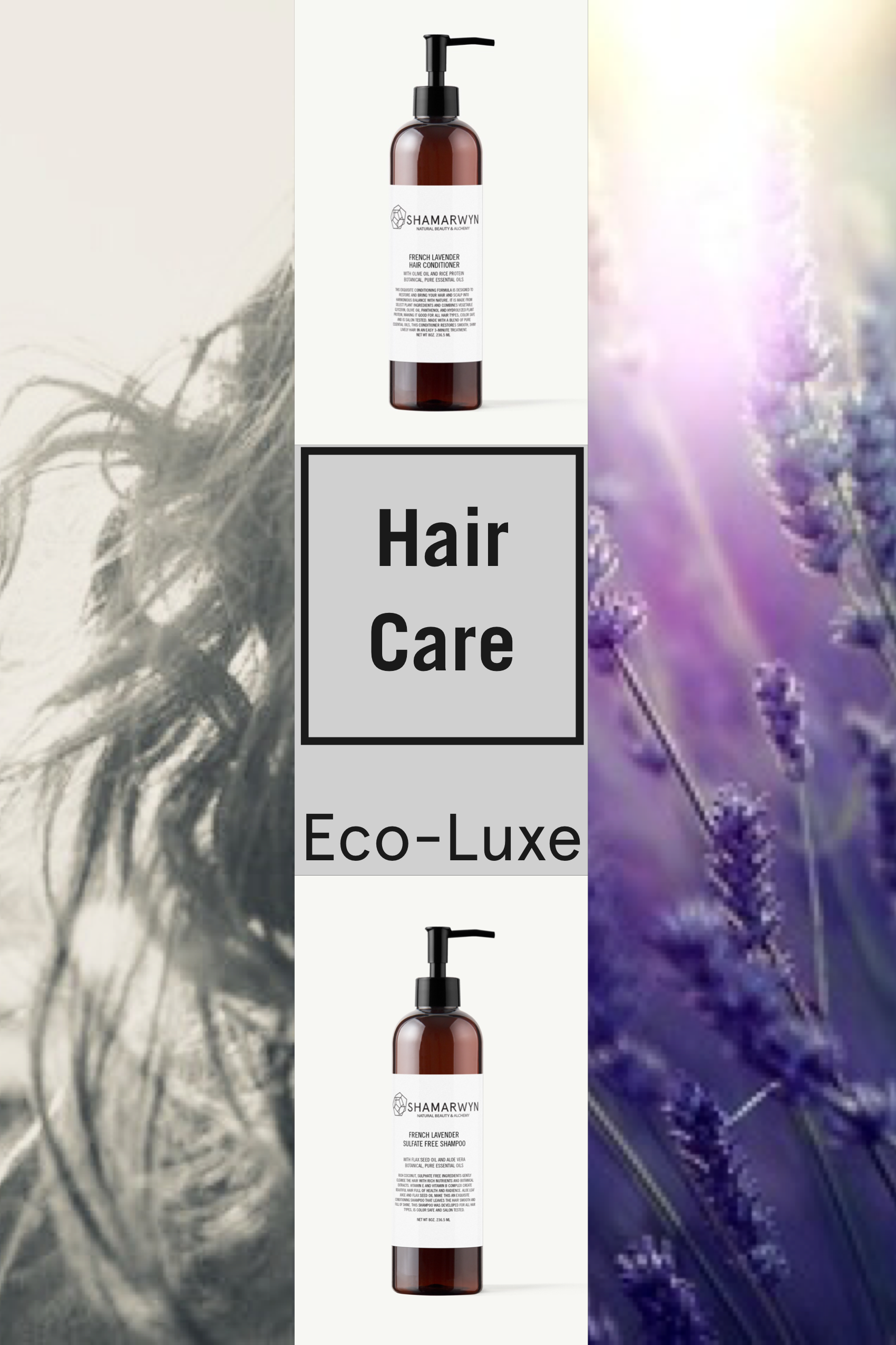 French Lavender Shampoo Volumizing Conditioner Set Natural