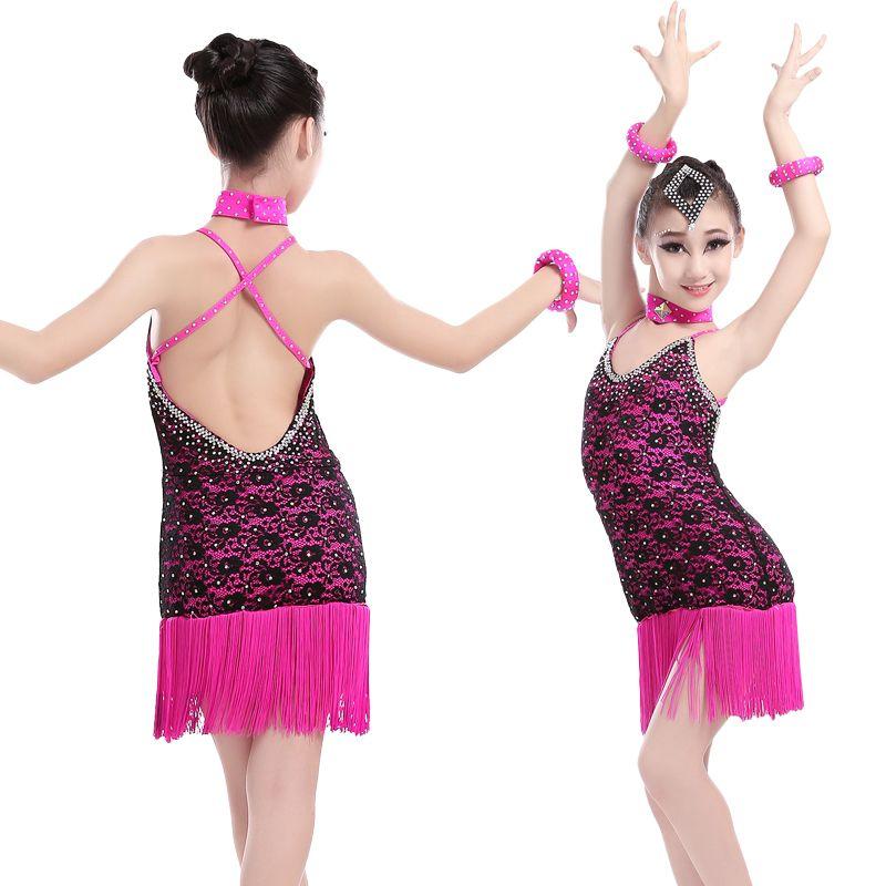 39faa66ca Free Shipping Girls Latin Salsa Tango Rumba Ballroom Dance Dress ...