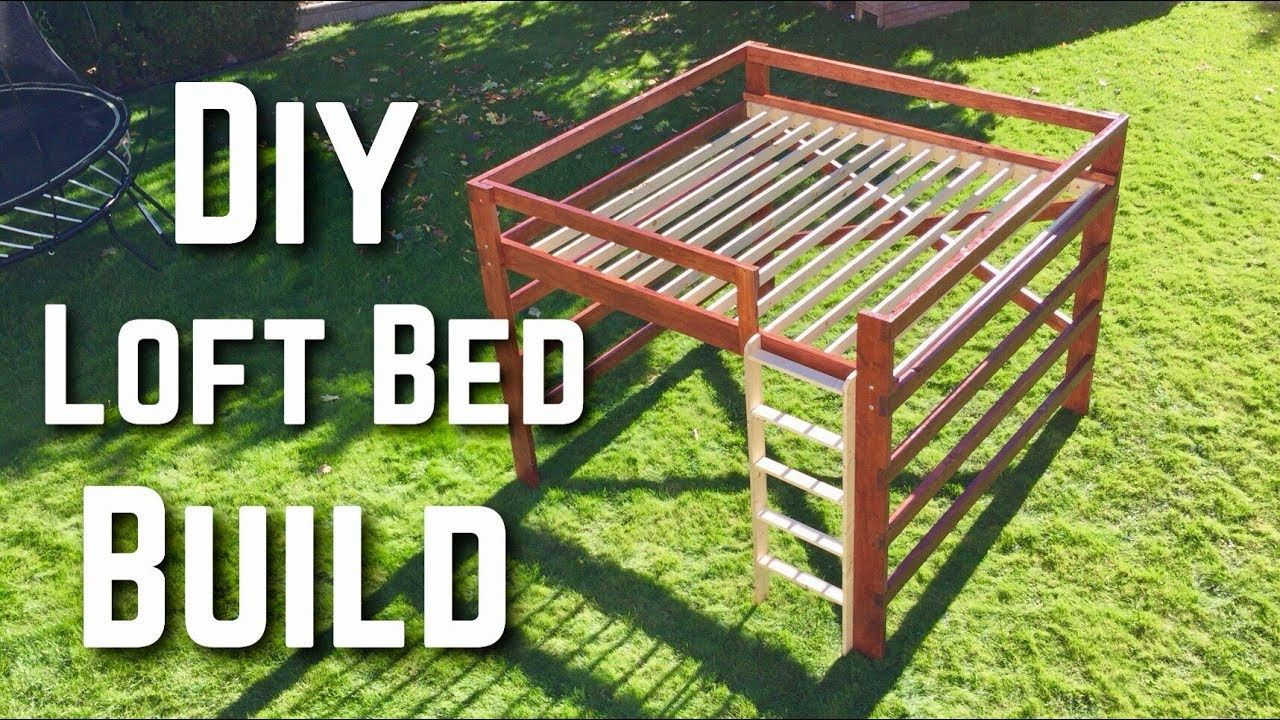 Best How To Build A Diy King Size Loft Bed Youtube In 2020 640 x 480