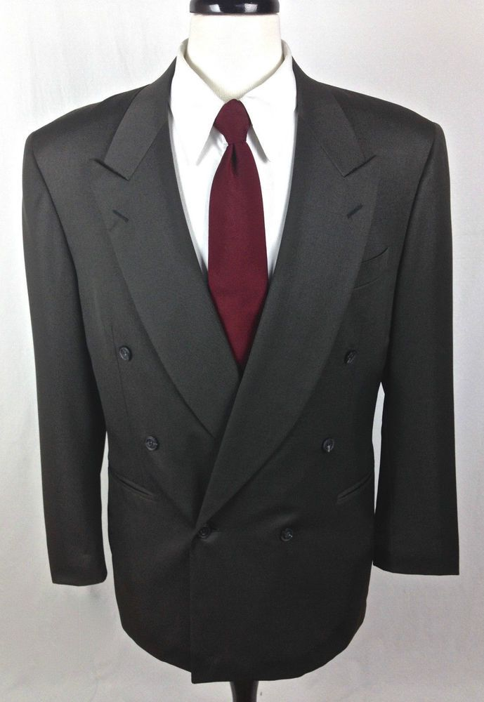 Canali Blazer 42 Gray Wool Sport Coat Jacket Italy 42R Mens ...