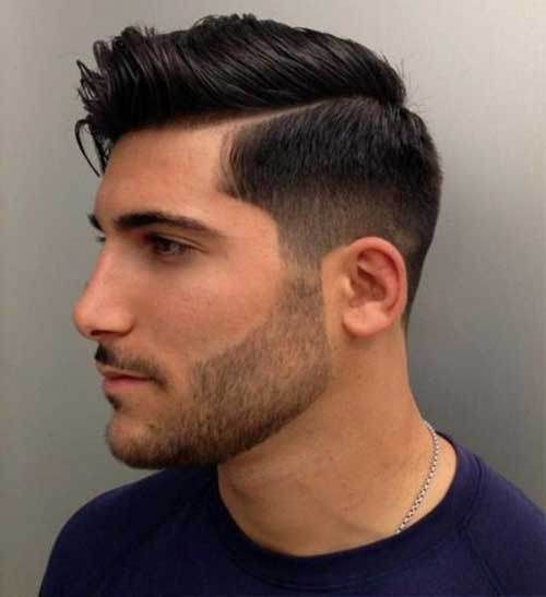 European Man With Fade Side Parted Hairstyle