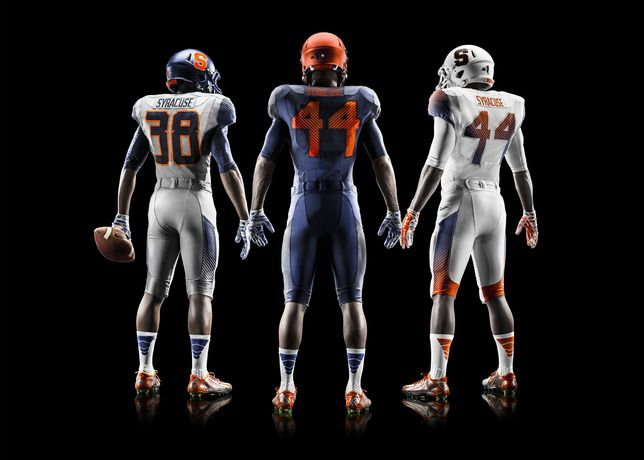 sale retailer 2b6fc 9ea32 Syracuse Unveils New Nike Pro Combat Football Uniforms for ...