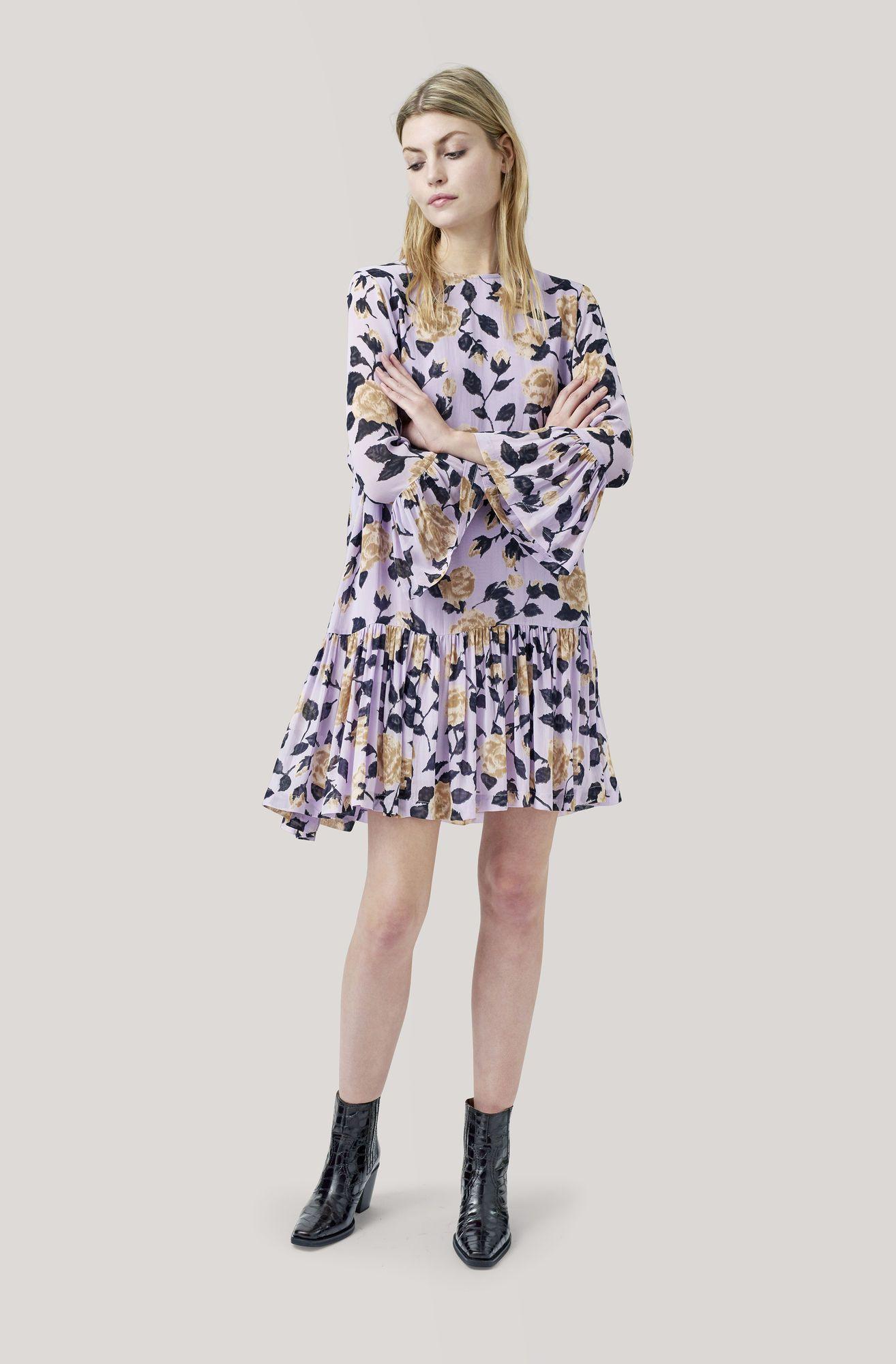 9356cc27 Carlton Georgette Dress, Pastel Lilac   Shop My Closet   Ganni dress ...