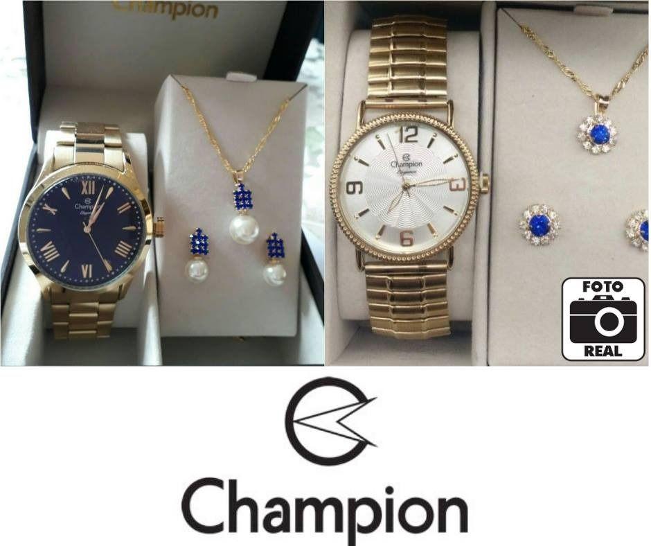 863931c06f5 Relógios Feminino Champion Analógico - Resistente à Água Elegance com  Bijouteria. 1