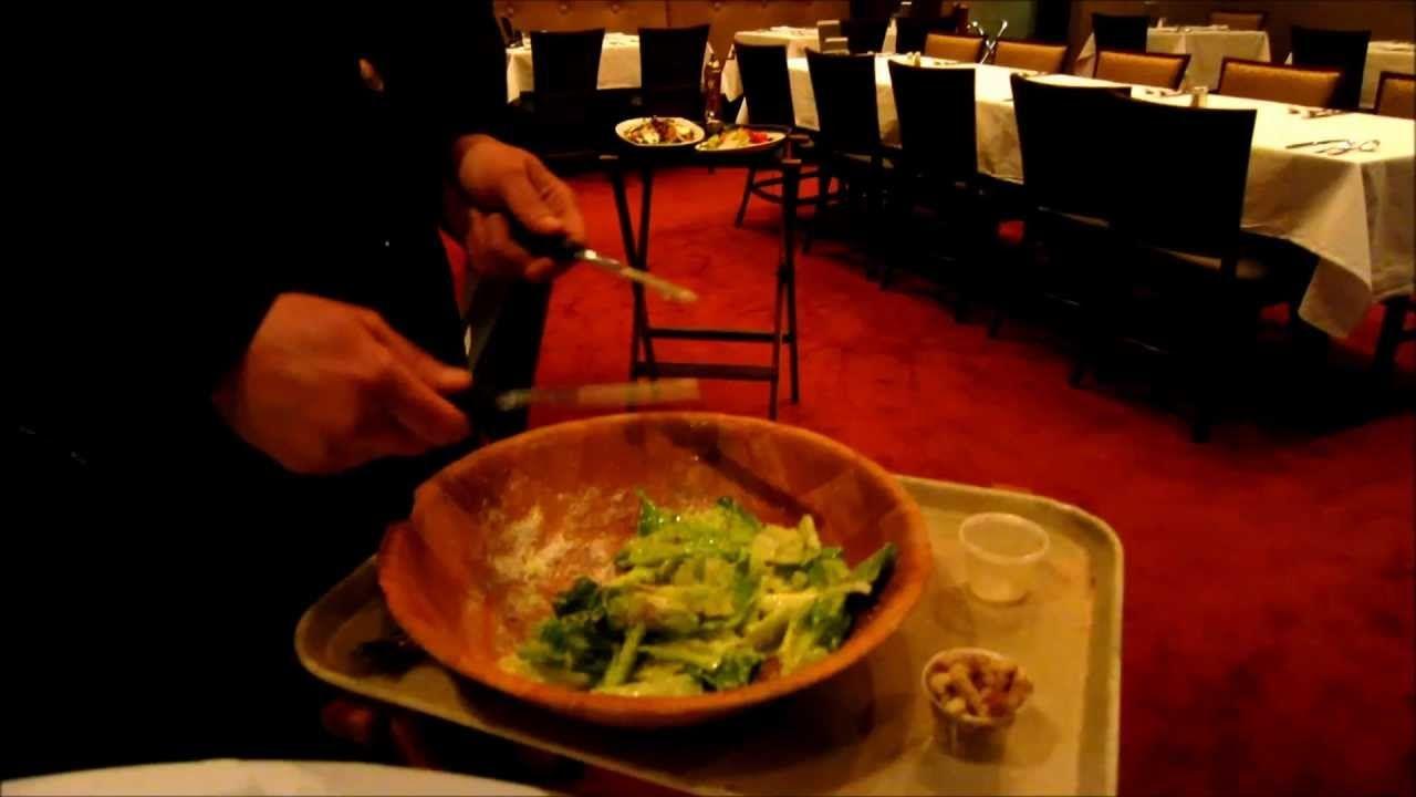 Bern S Steak House Caesar Salad Sophie Gayot Of Gayot Com Caesar Salad Foodie Steakhouse