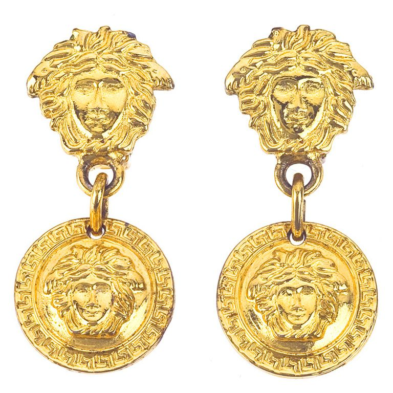 59e7f0c99d86 Gianni Versace Medusa Earrings Gold in 2019