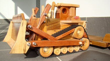 Wood Magazine Construction Series Bulldozer With A Peter Built